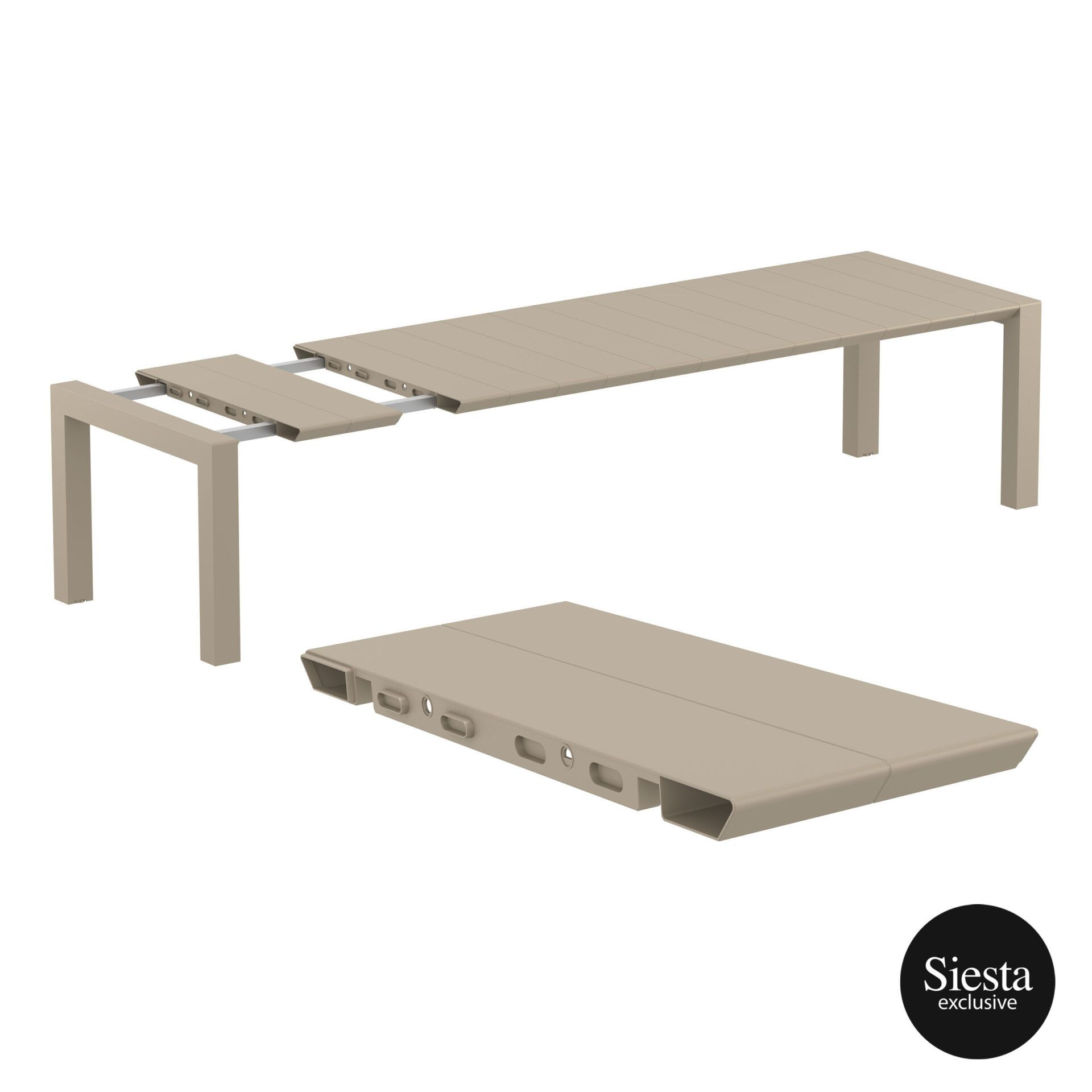 009 vegas table xl 300 taupe extension part