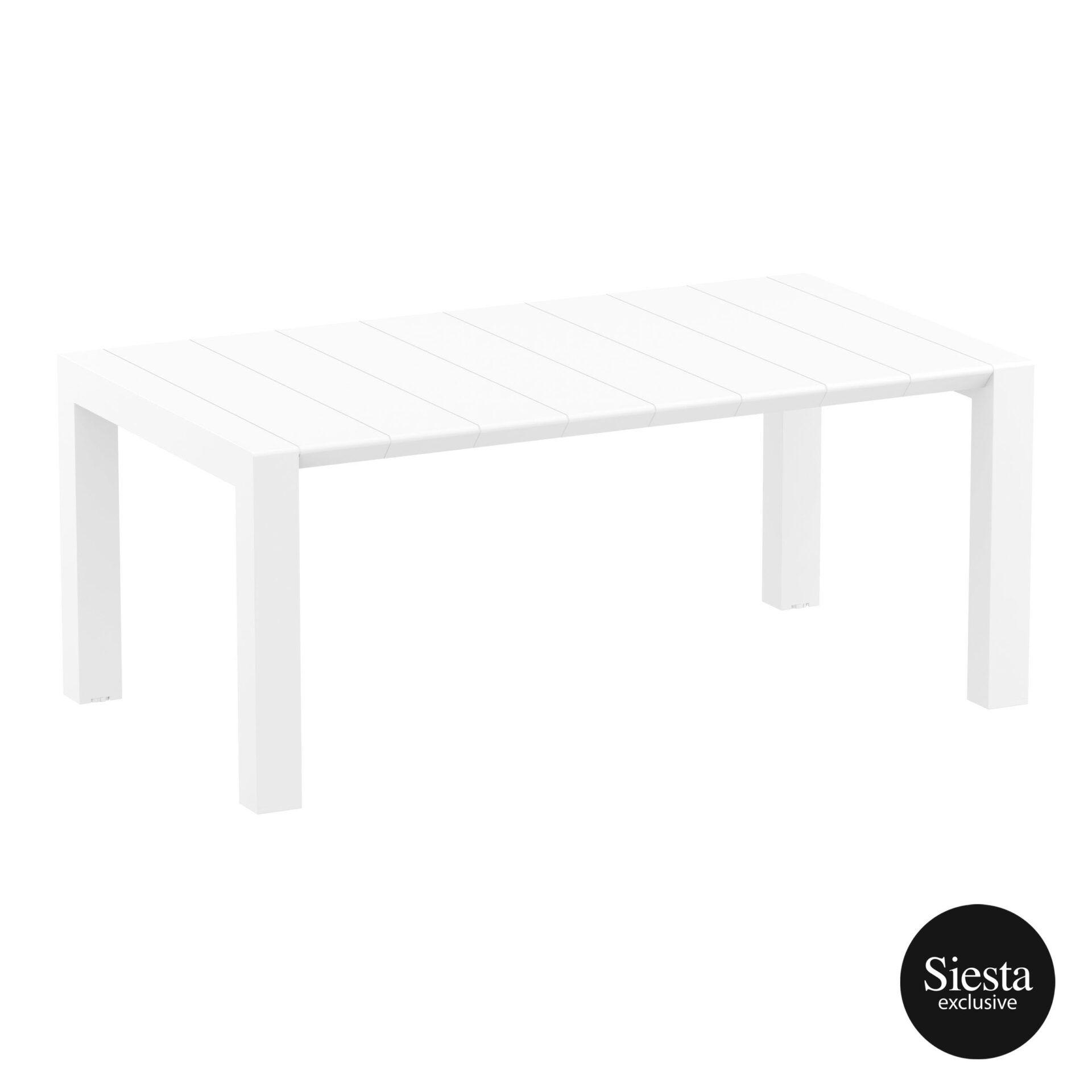 010 vegas table medium 180 white front side