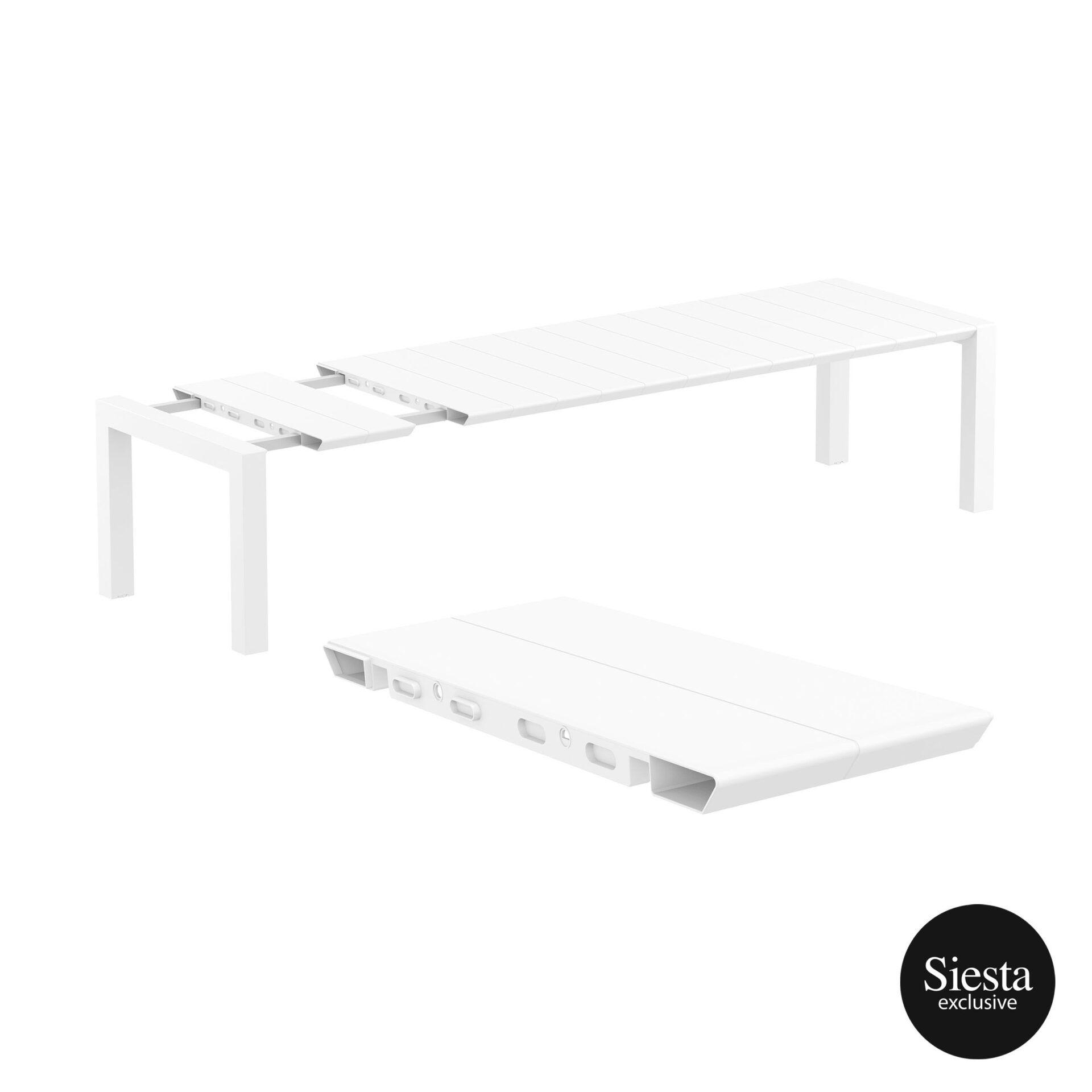013 vegas table xl 300 white extension part