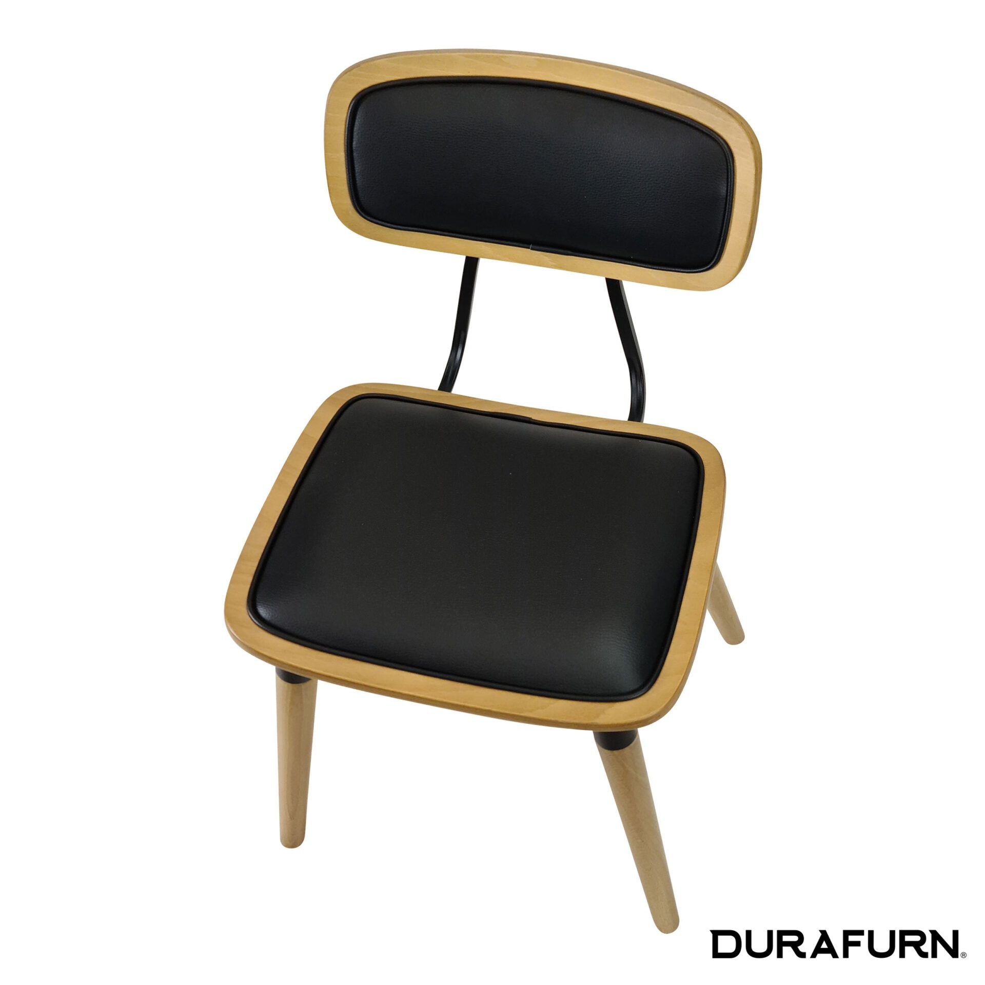 Felix Chair Natural black uph top angle