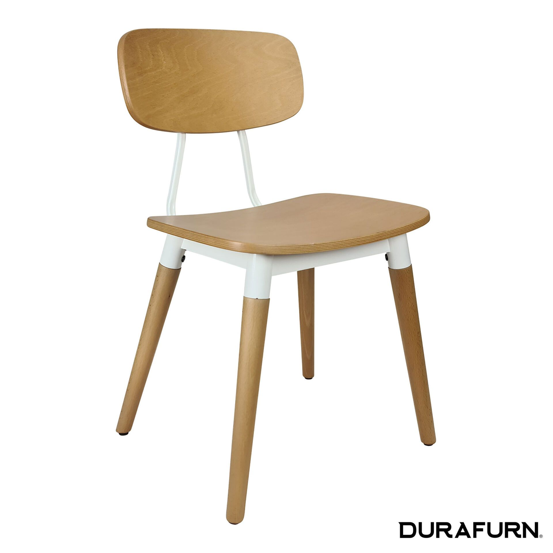 Felix Chair Natural white front side