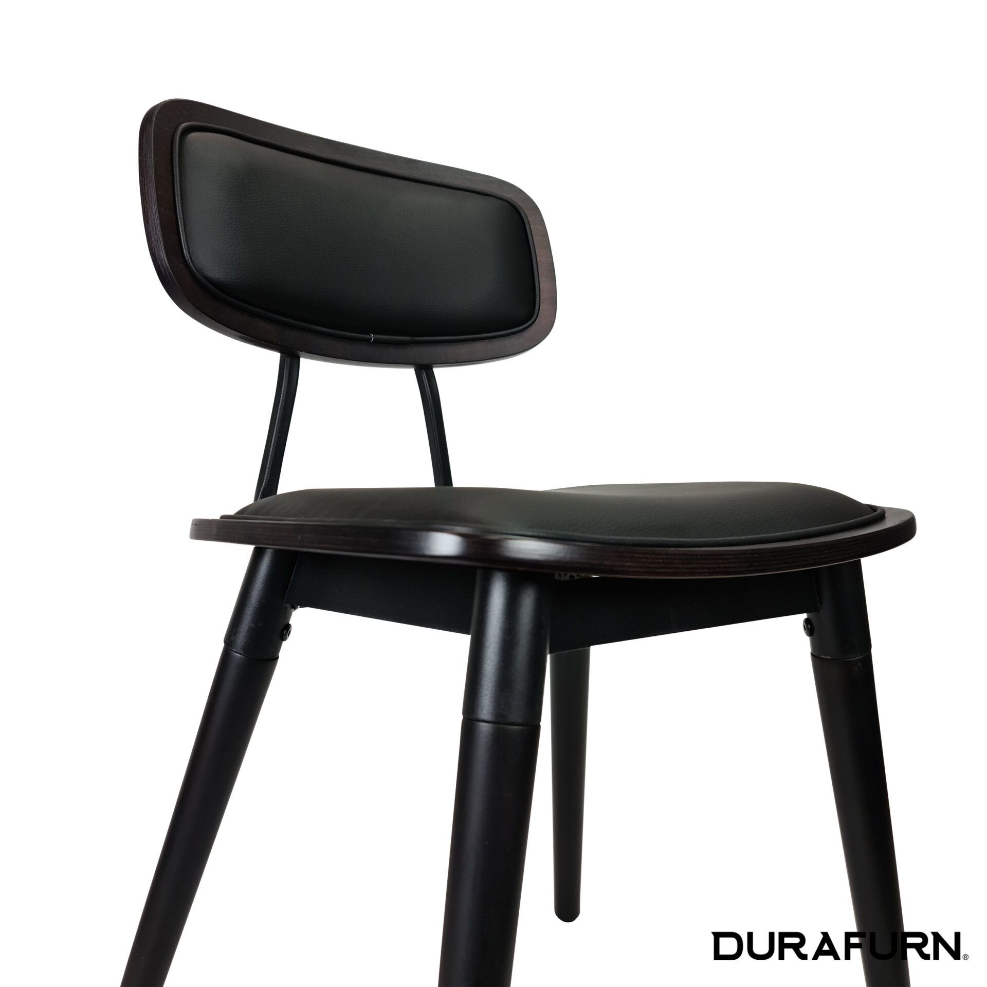 Felix Chair Wenge.black cushioned seat 1