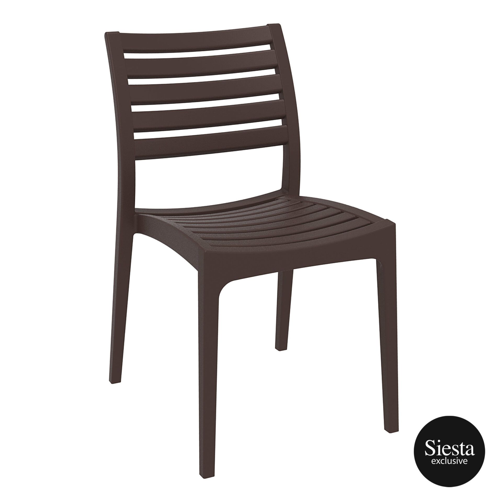Outdoor Ares Chair brown front side
