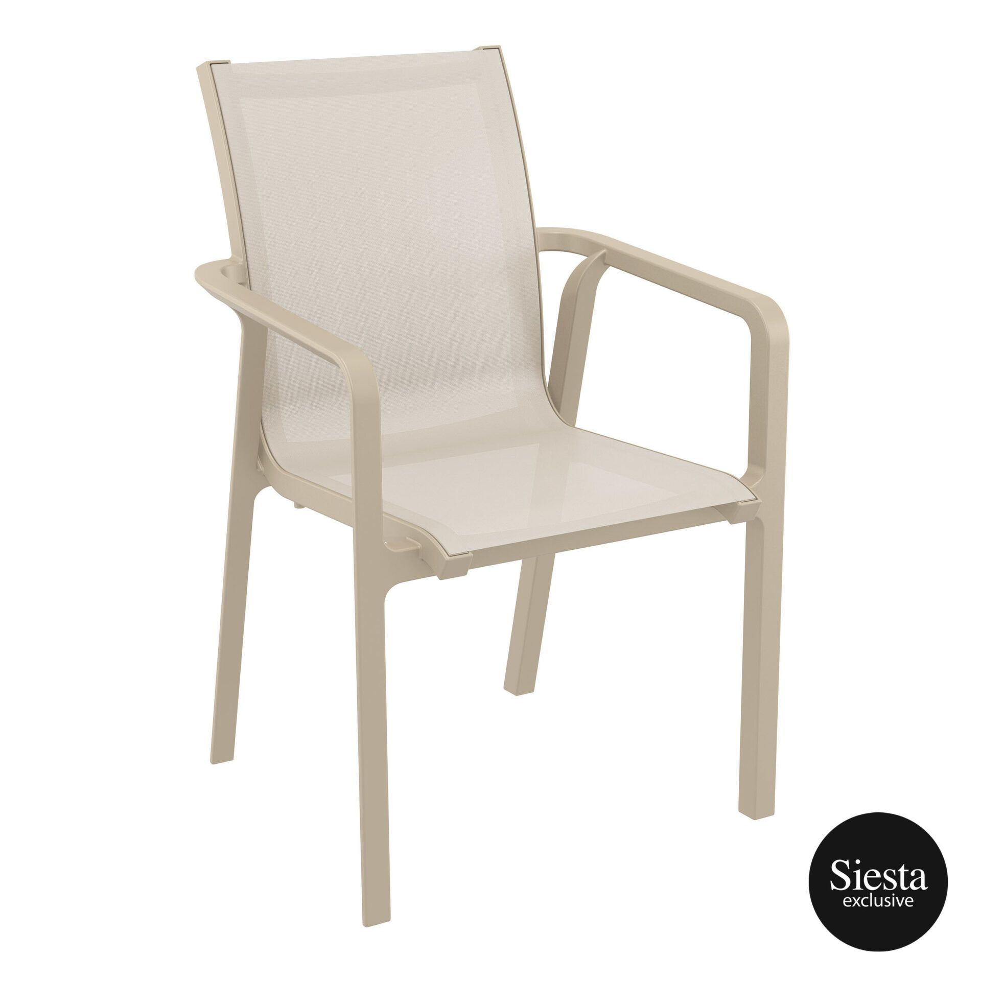 Outdoor Seating Pacific Armchair taupe taupe front side