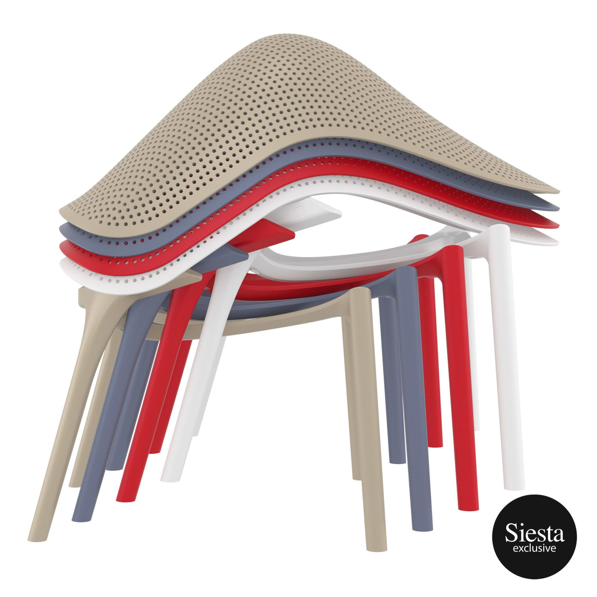 Outdoor Seating Polypropylene Sky Lounge stack 2