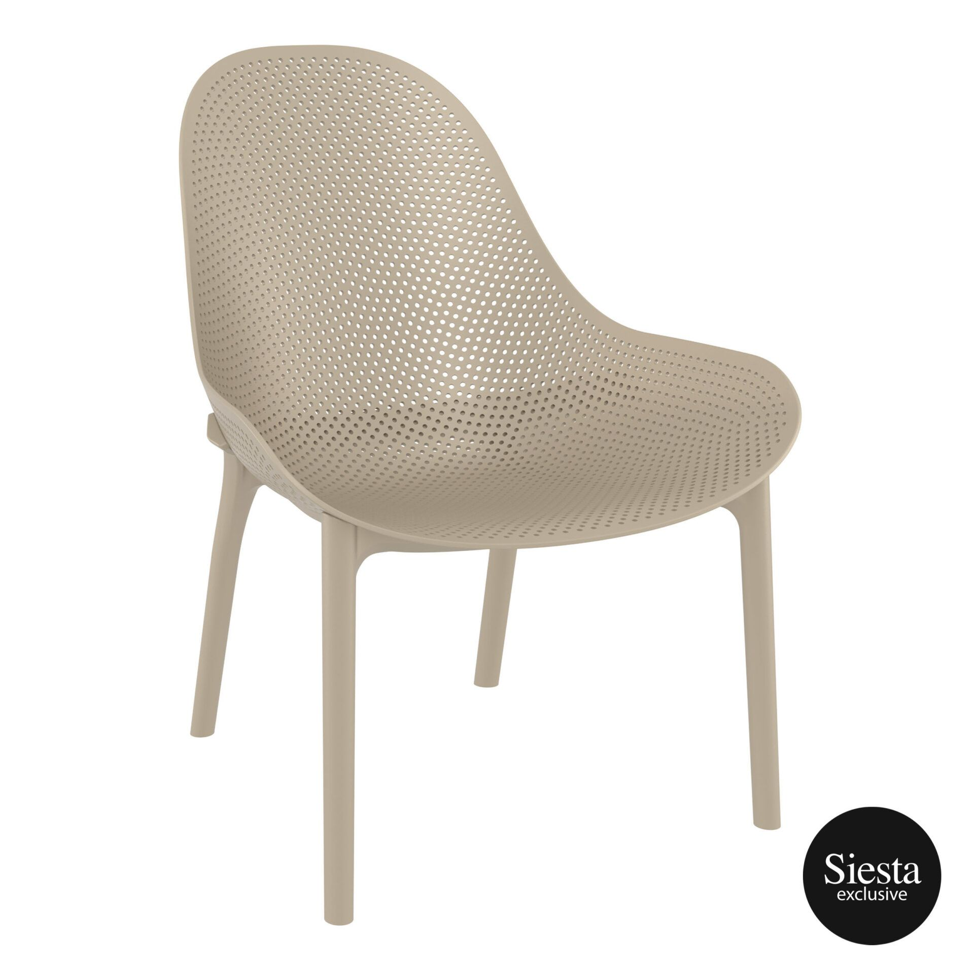 Outdoor Seating Polypropylene Sky Lounge taupe front side
