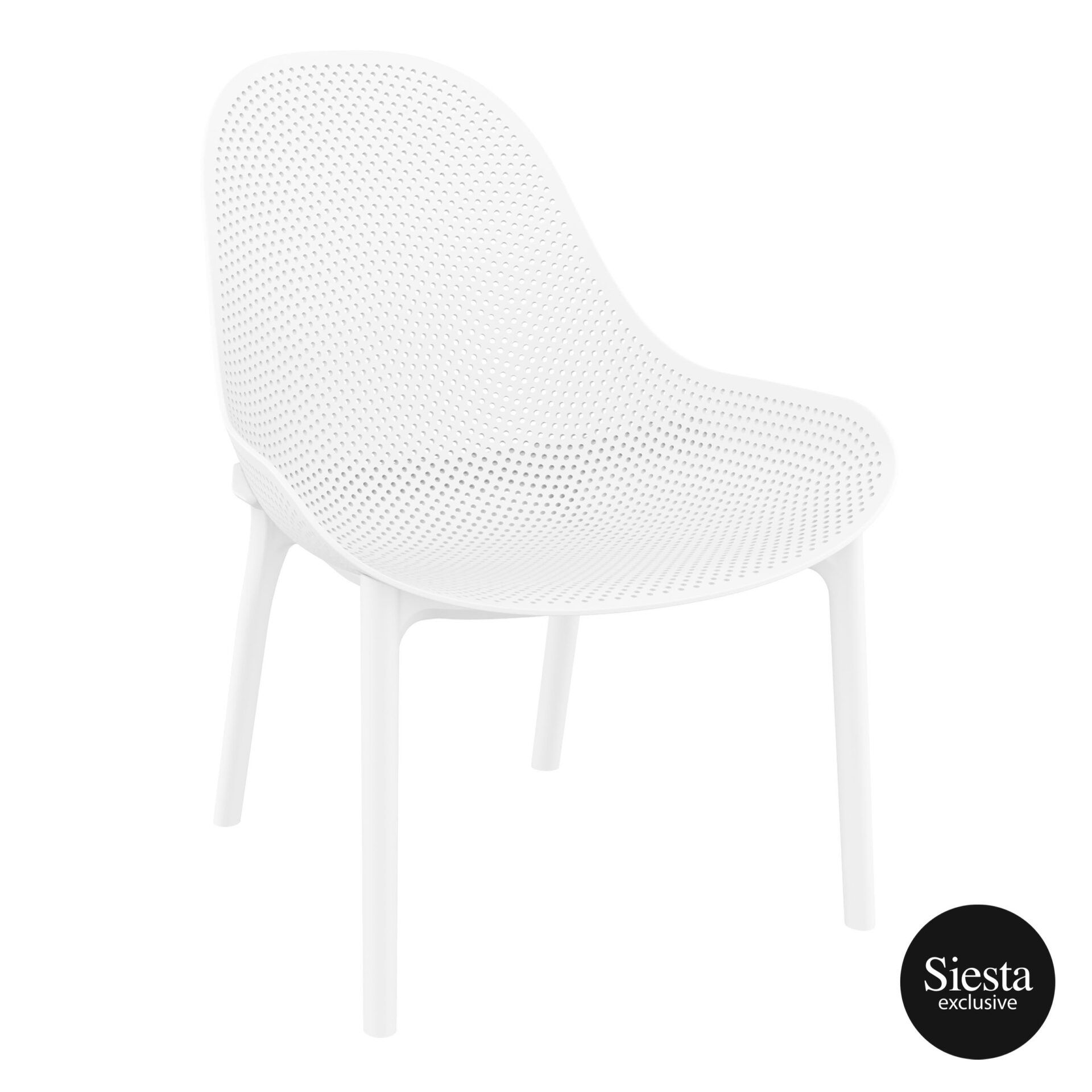 Outdoor Seating Polypropylene Sky Lounge white front side