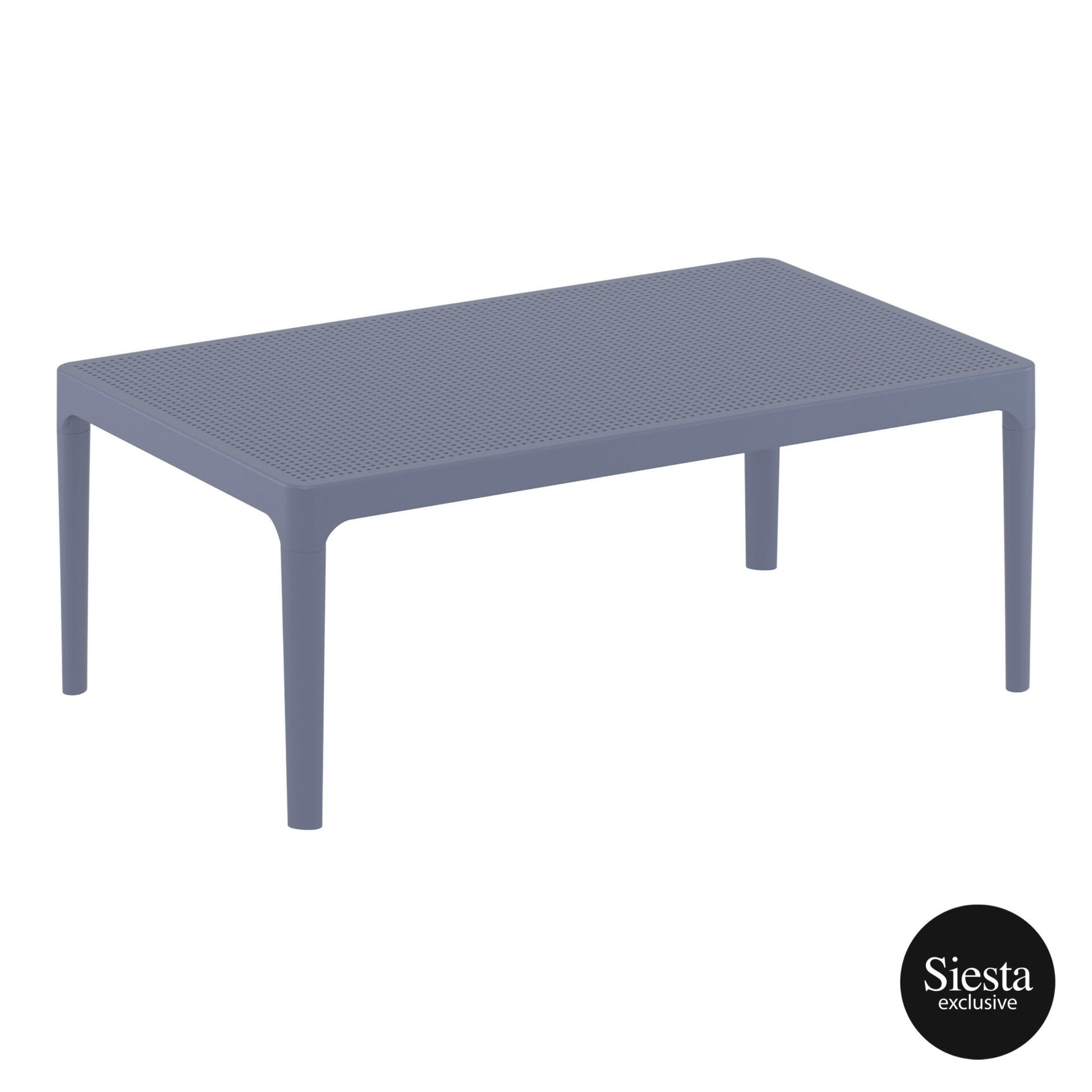Polypropylene Outdoor Sky Lounge Coffee Table darkgrey front side