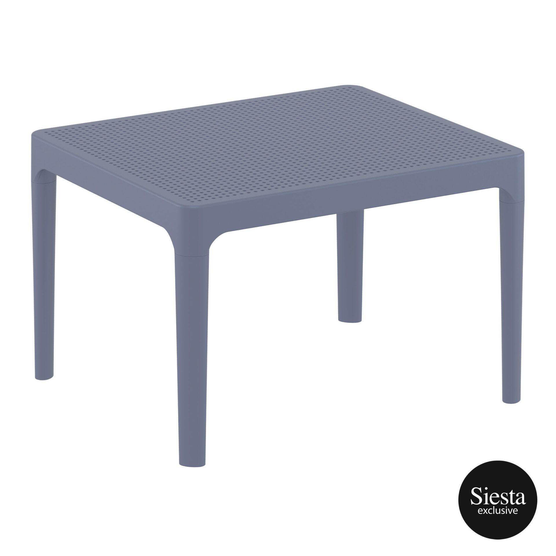 Polypropylene Outdoor Sky Side Table darkgrey front side