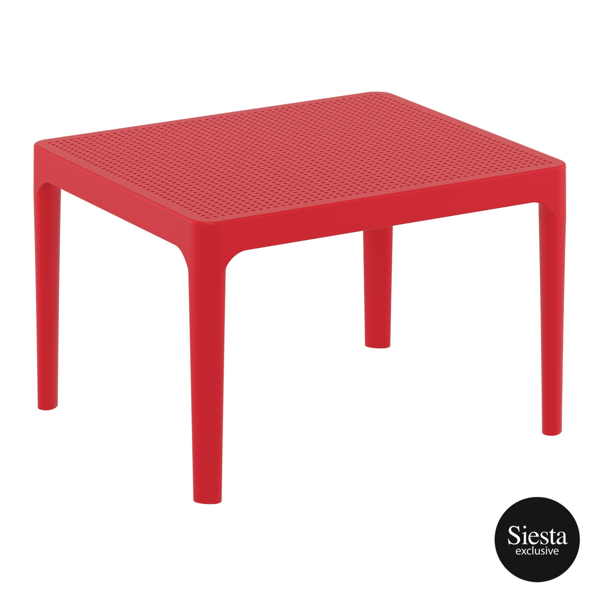 Polypropylene Outdoor Sky Side Table red front side