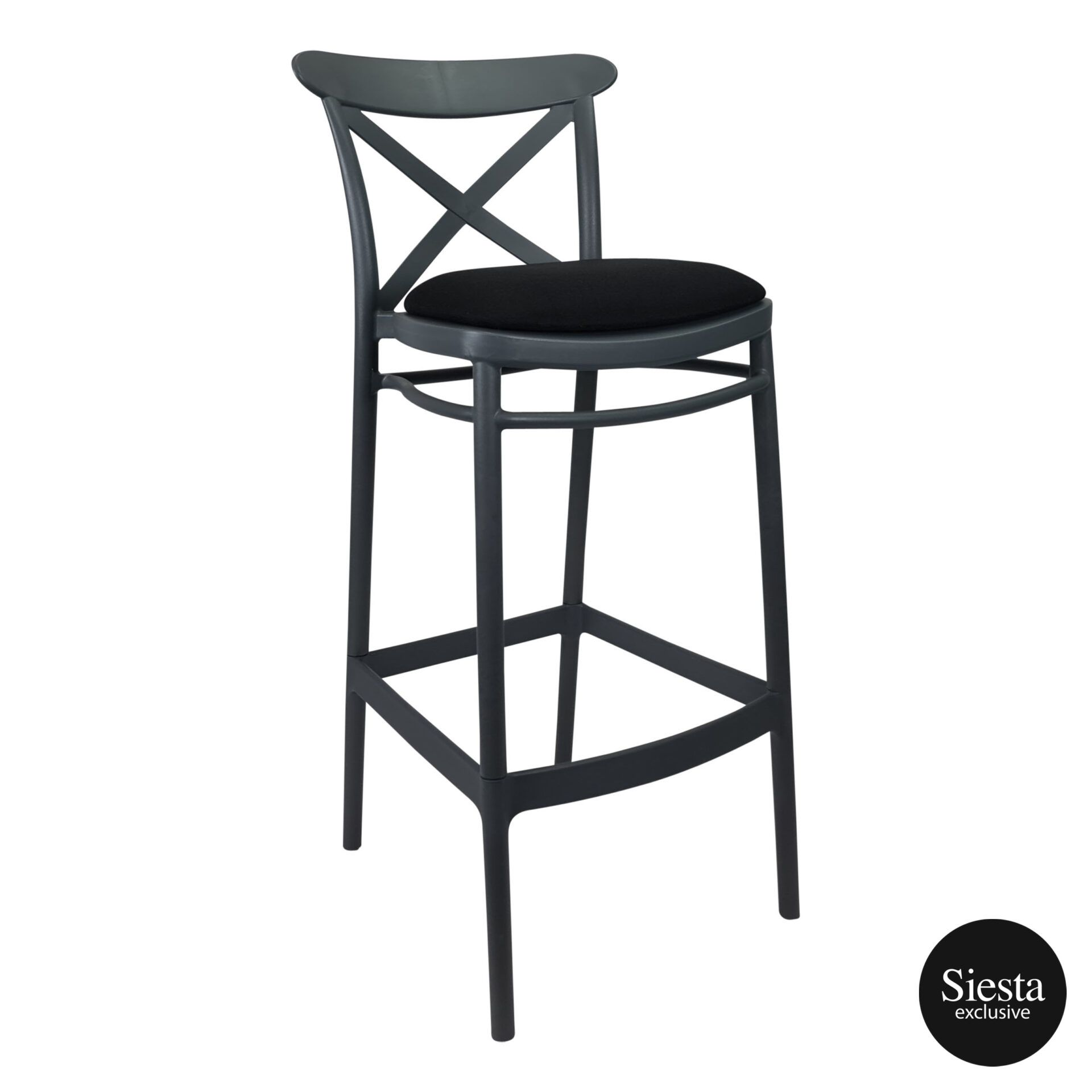 Cross Barstool 75 Anthracite c1a