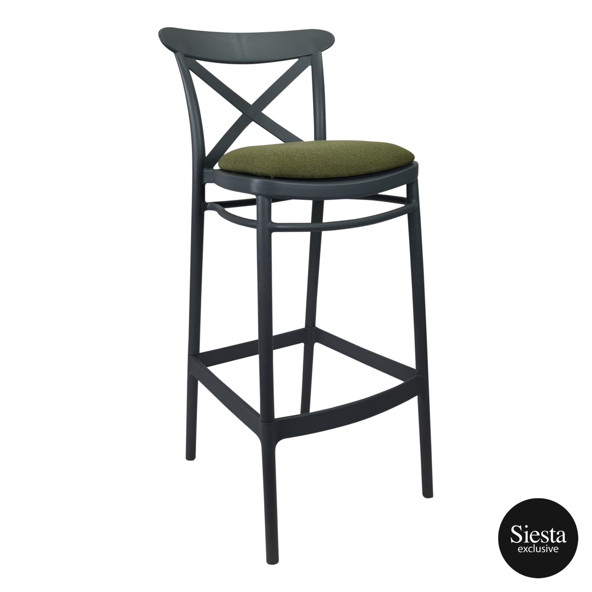 Cross Barstool 75 Anthracite c2a