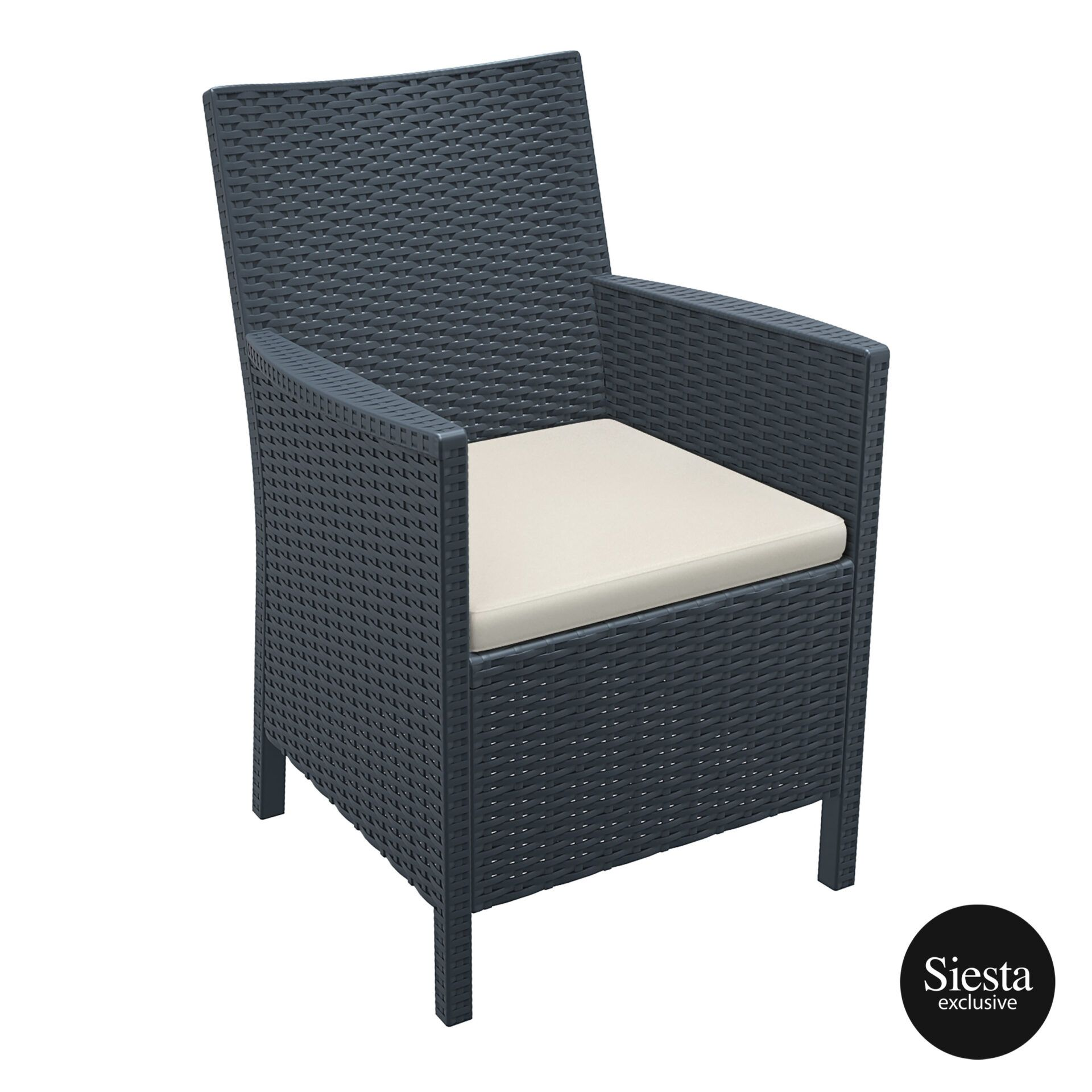 california tub chair cushion darkgrey front side 1