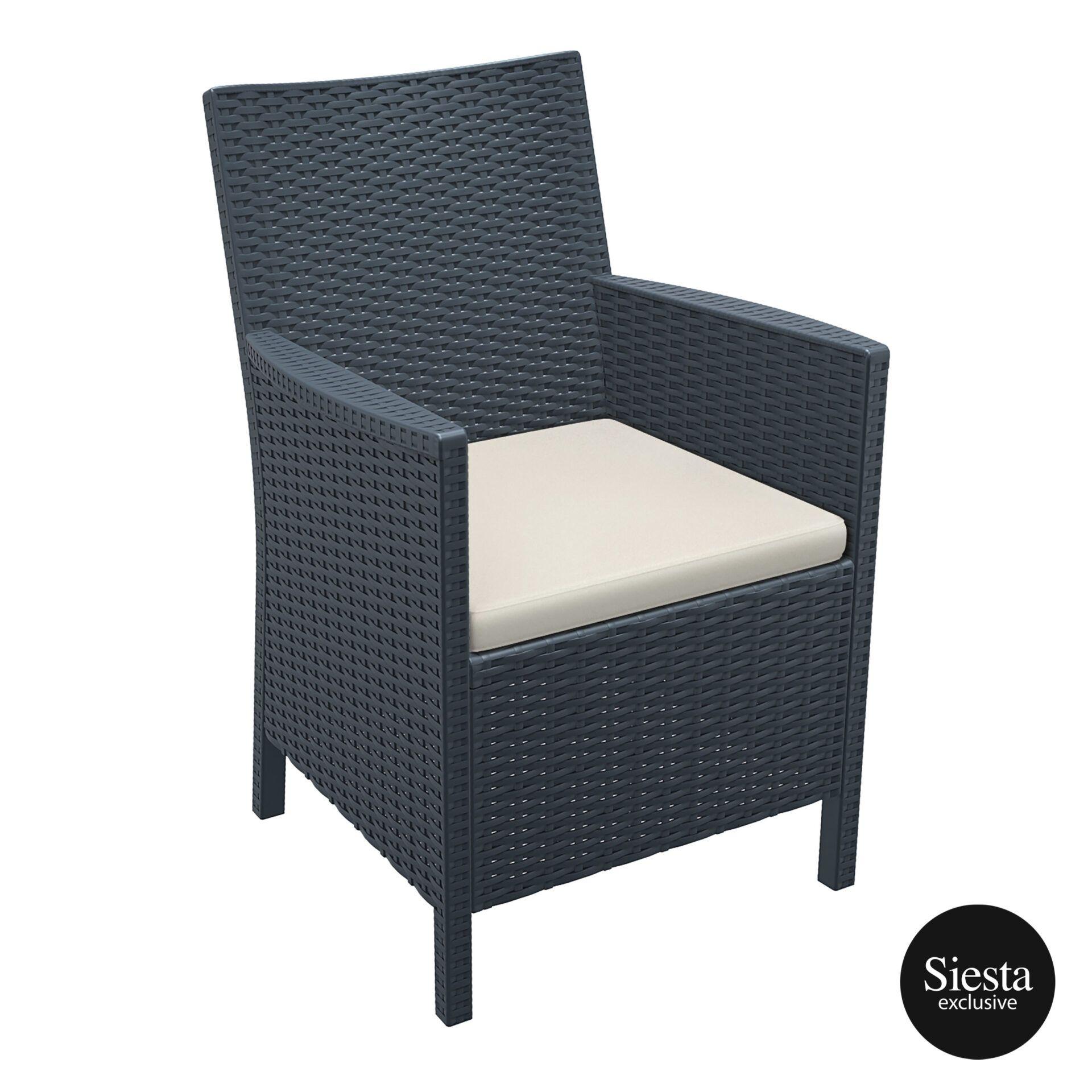 california tub chair cushion darkgrey front side 2