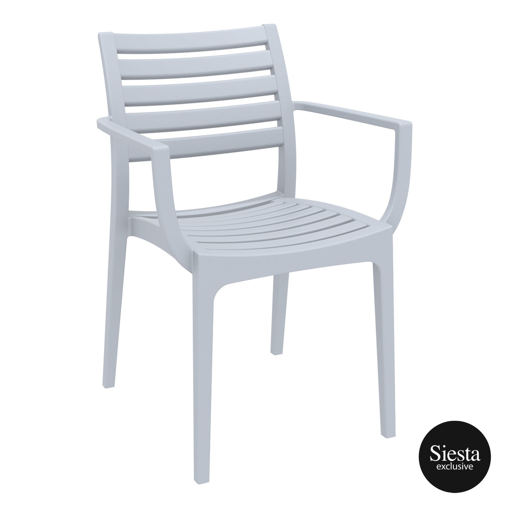 dining artemis armchair silvergrey front side