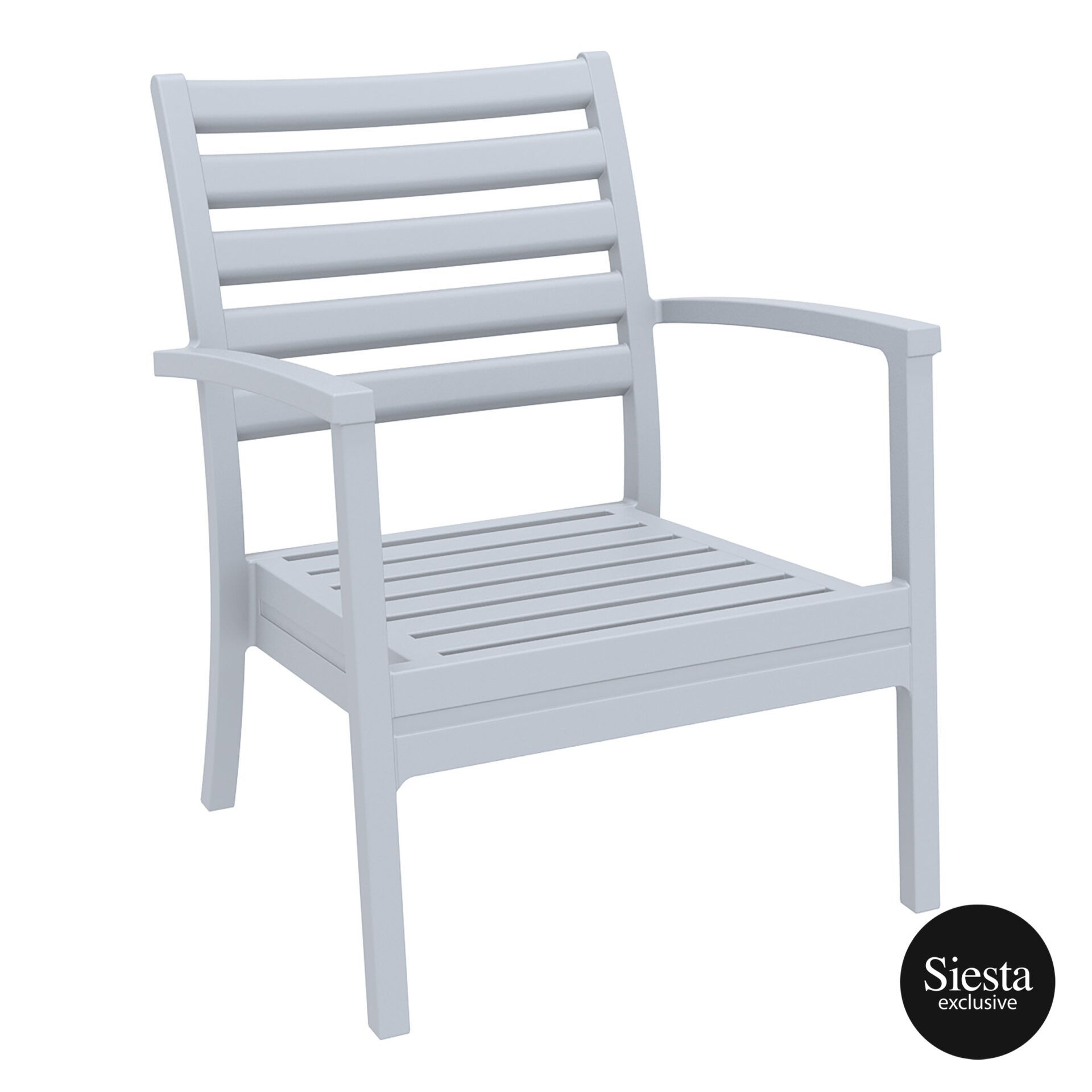 dining artemis armchair xl silvergrey front side