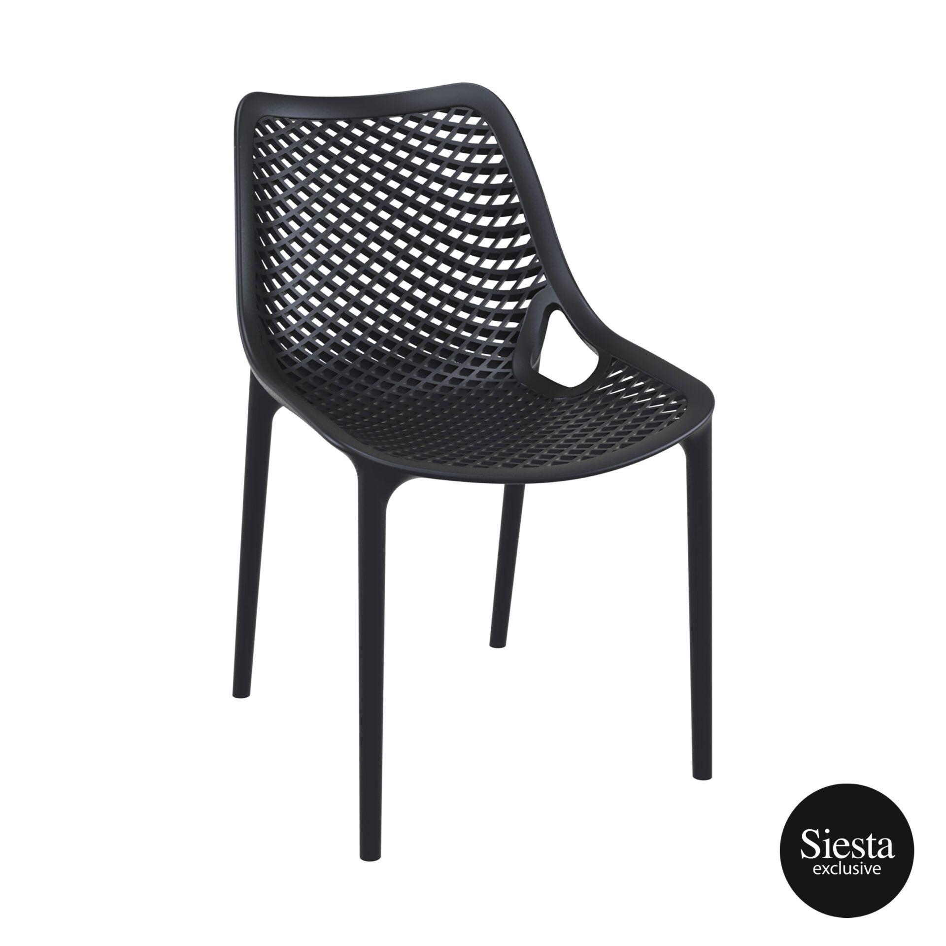 original siesta air chair black front side
