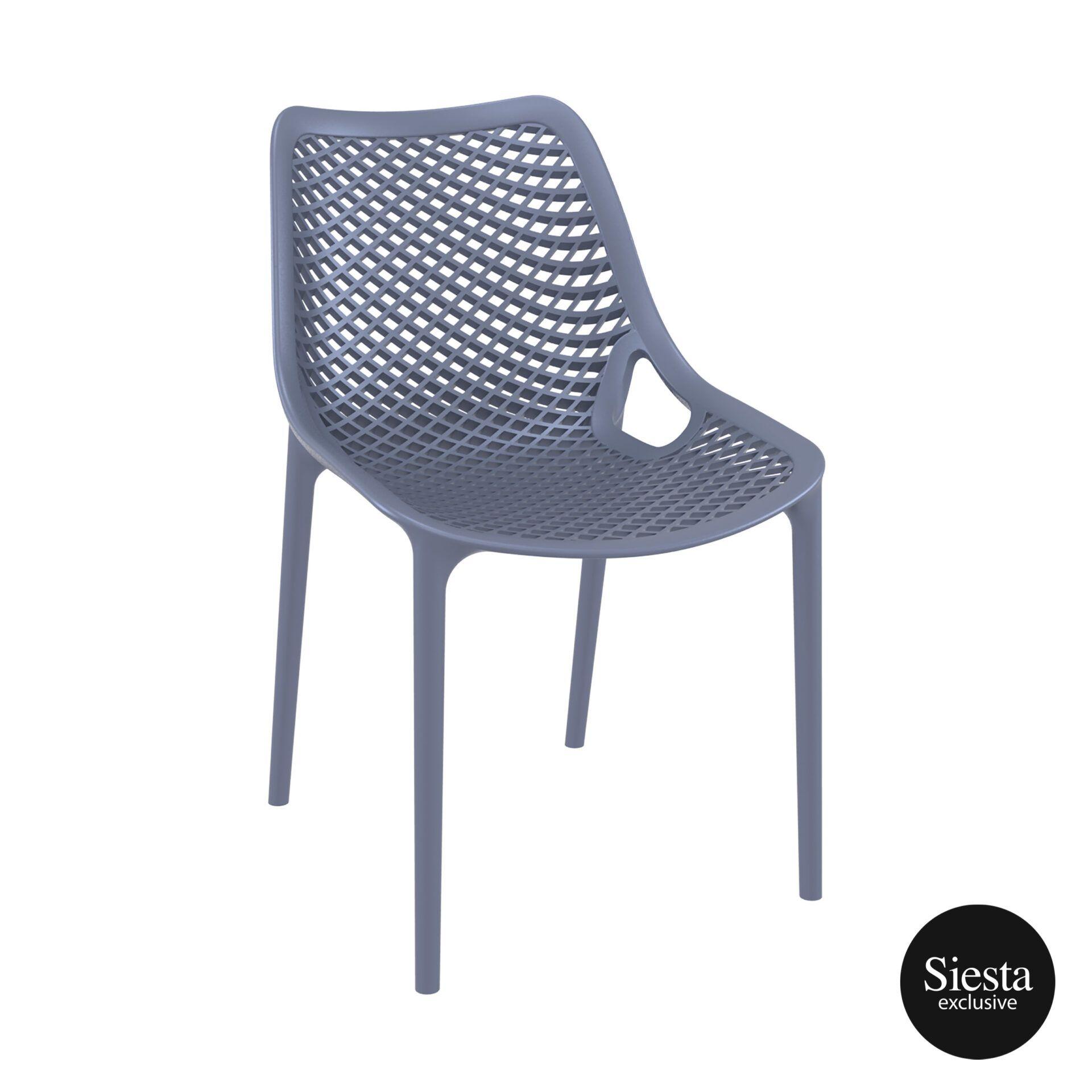 original siesta air chair darkgrey front side