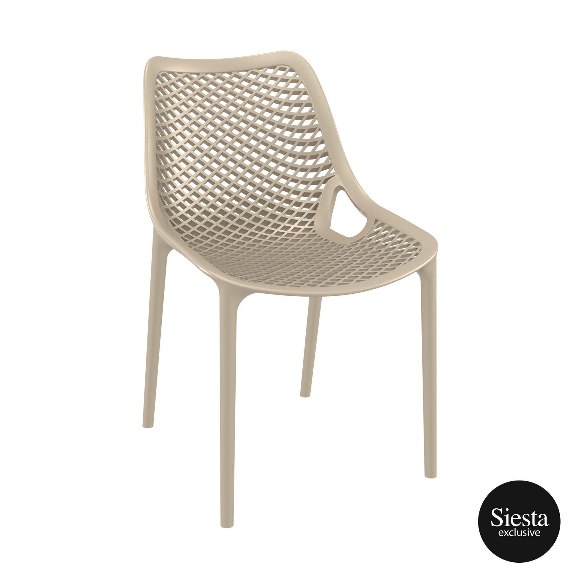 original siesta air chair dovegrey front side