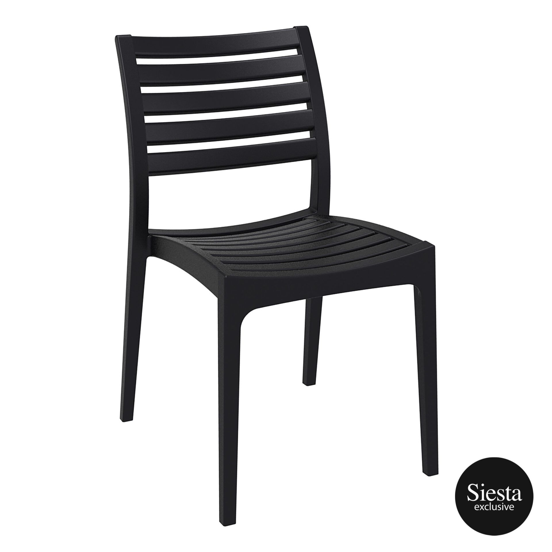 outdoor ares chair black front side