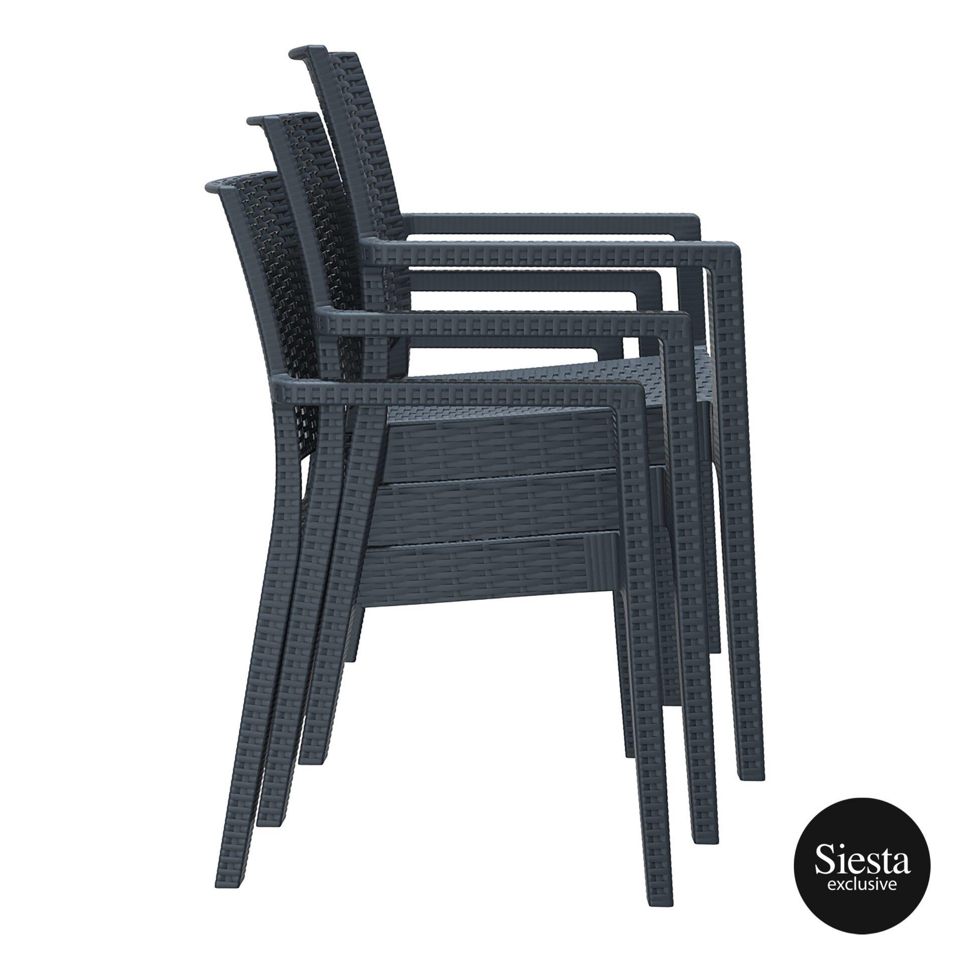 outdoor seating resin rattan ibiza armchair stack 2