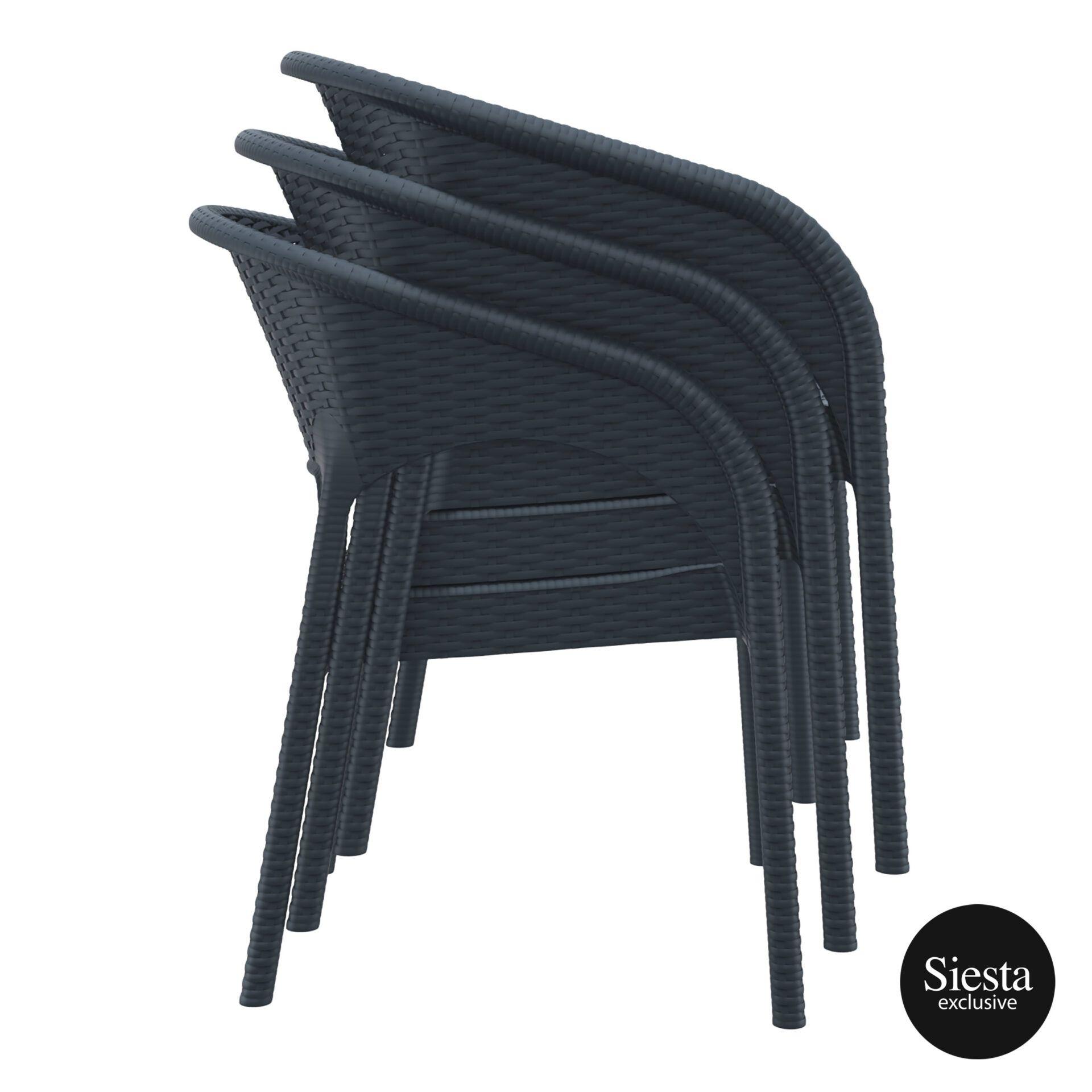 outdoor seating resin rattan panama armchair stack 1