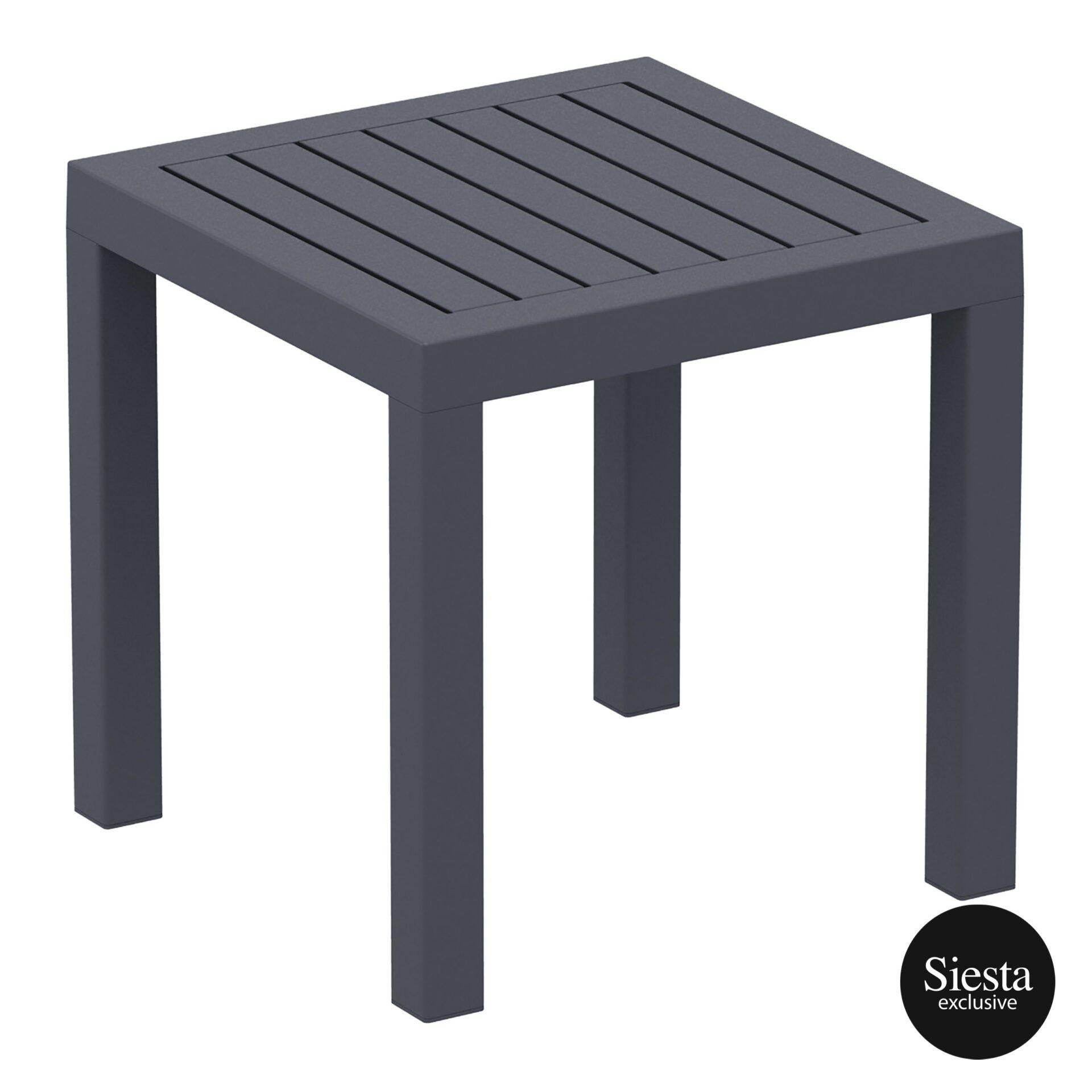 plastic outdoor resort ocean side table darkgrey front side 3