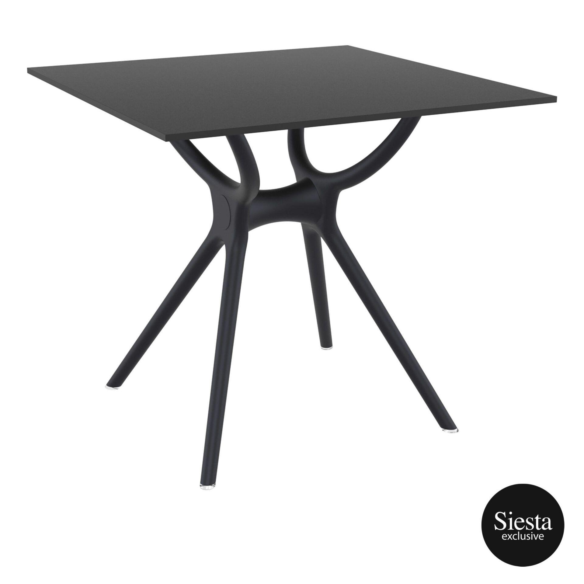 polypropylene hospitality air table 80 black front side