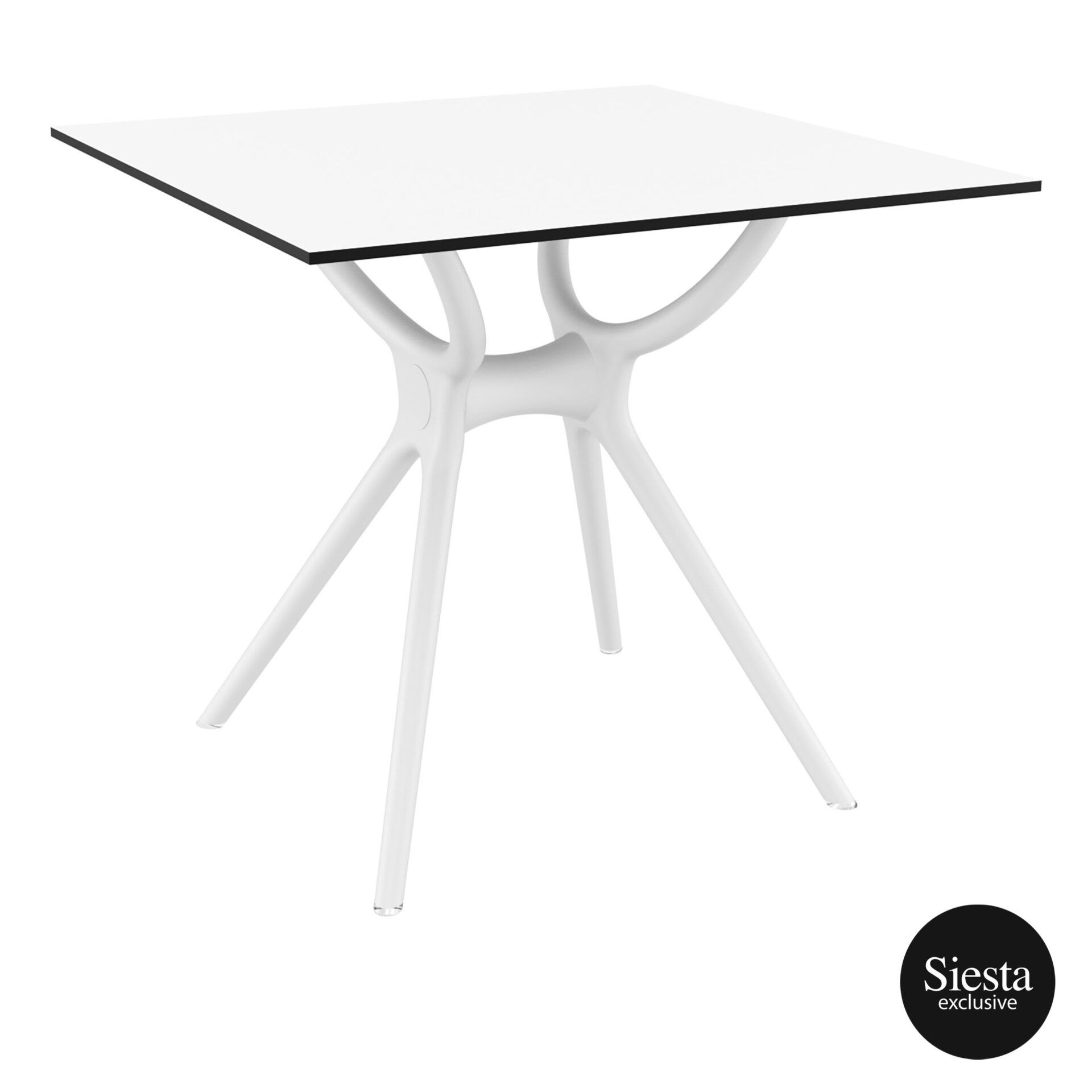 polypropylene hospitality air table 80 white front side