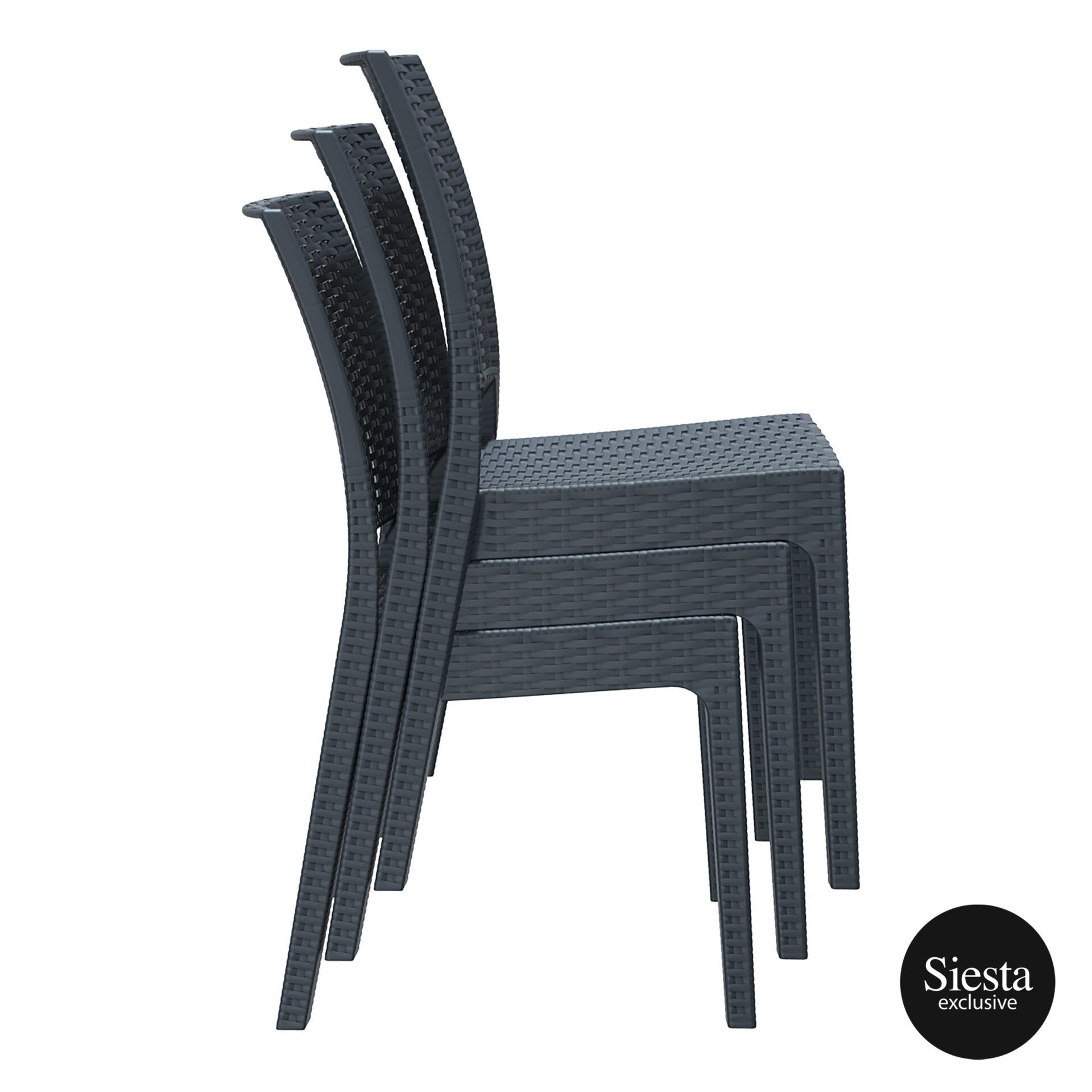 resin rattan dining florida chair stack