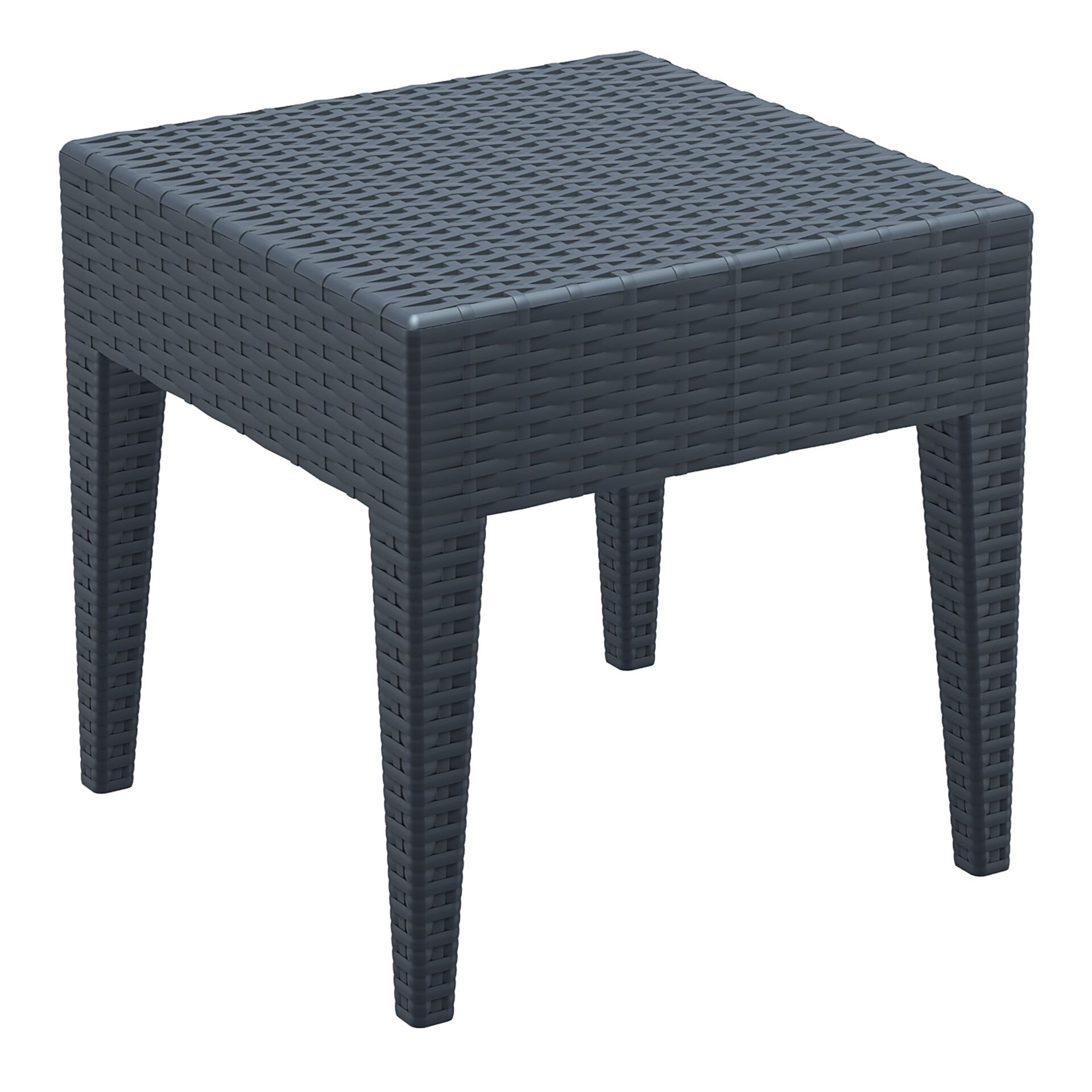 resin rattan miami tequila lounge side table darkgrey front side 1