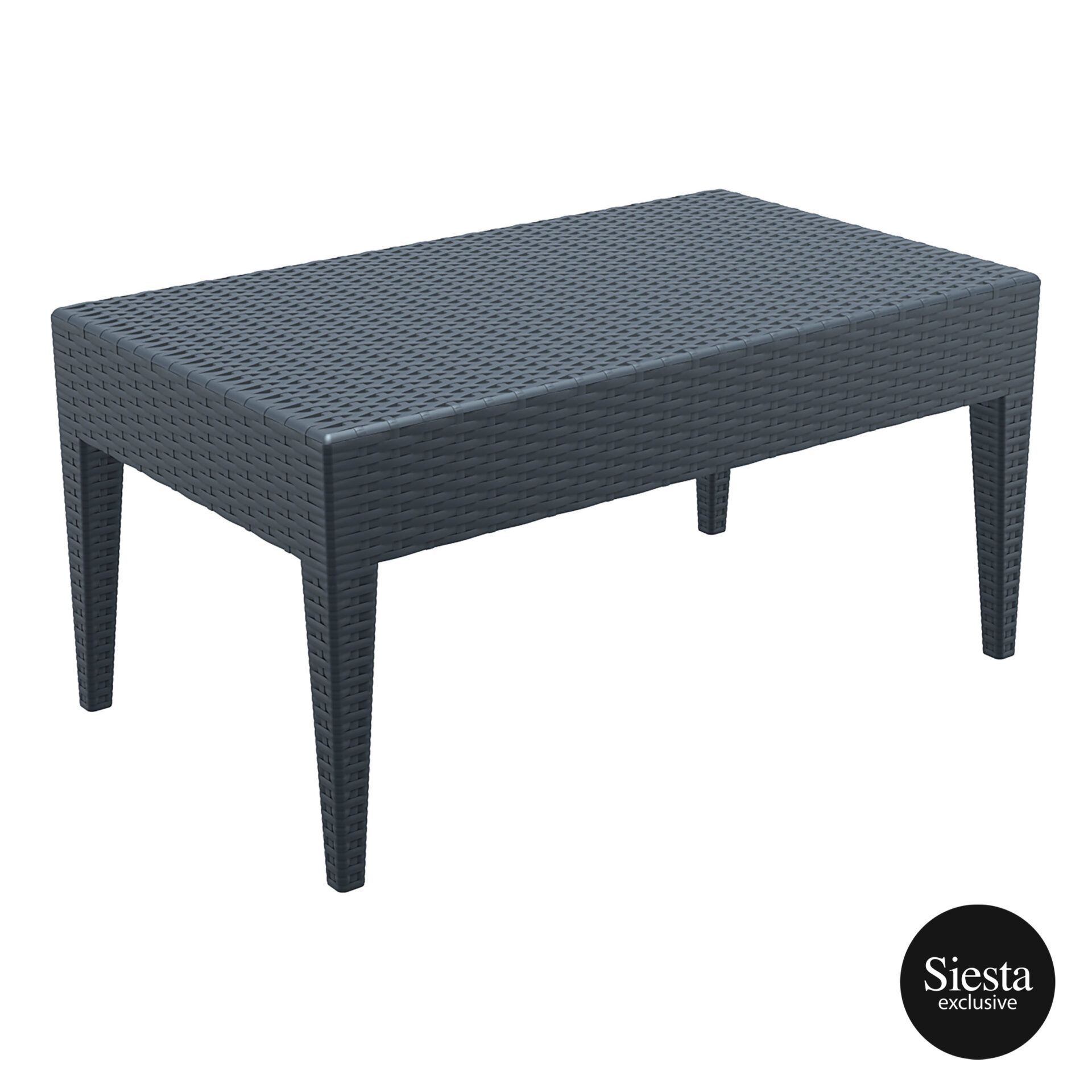 resin rattan miami tequila lounge table darkgrey front side 1