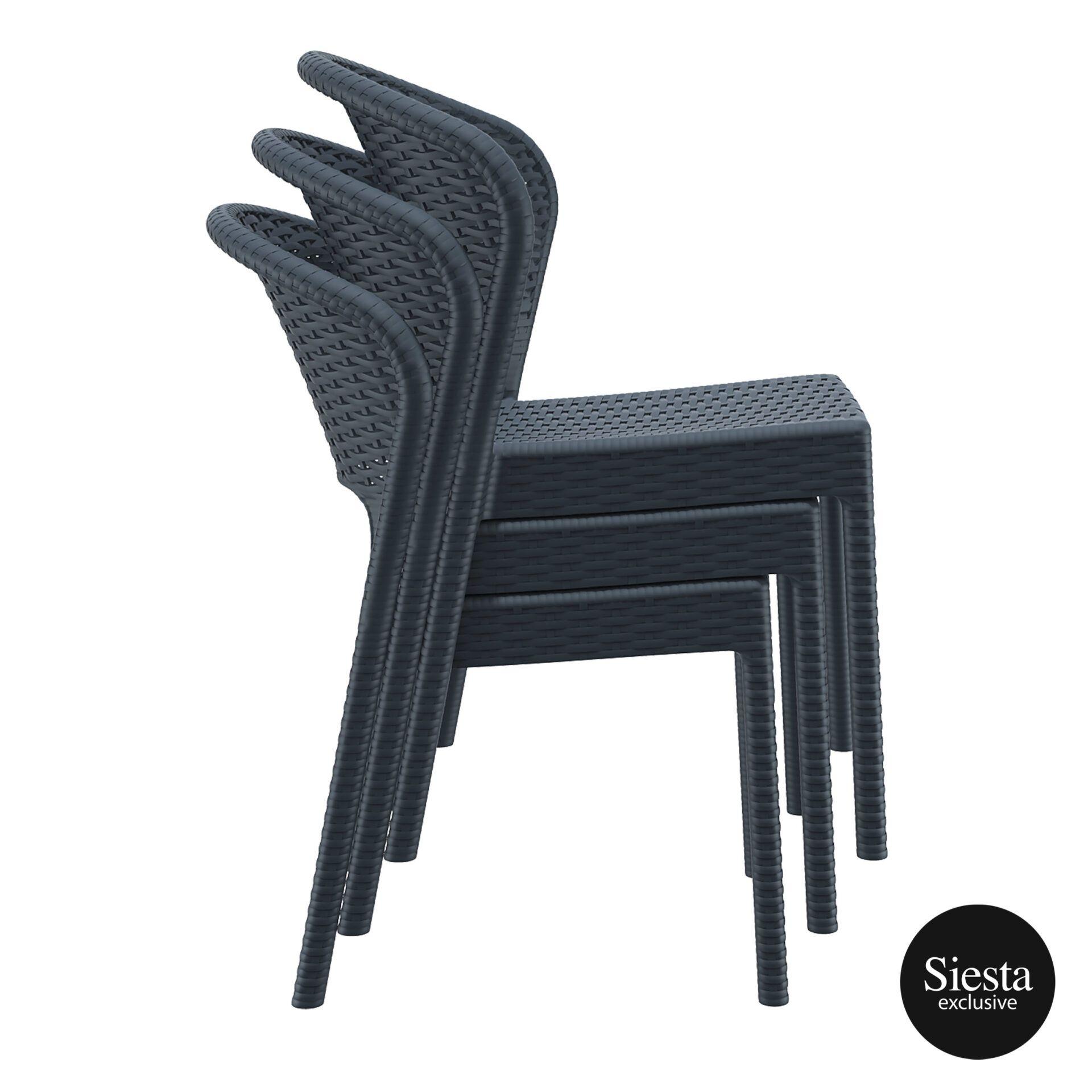 resin rattan outdoor daytona chair stack
